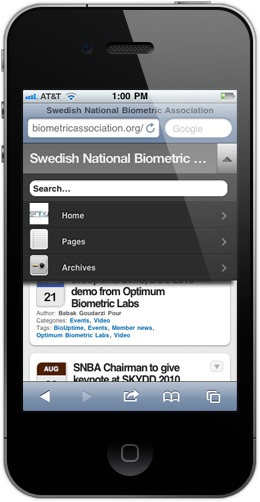 BiometricAssociation.org is mobile friendly