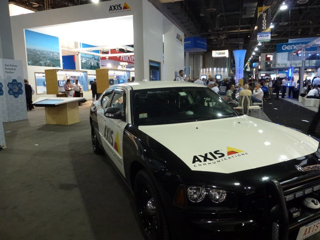 Axis Communication booth, ISC Wes 2012