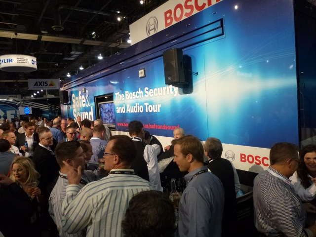 End of first day and beer time at Bosch booth, ISC West 2012