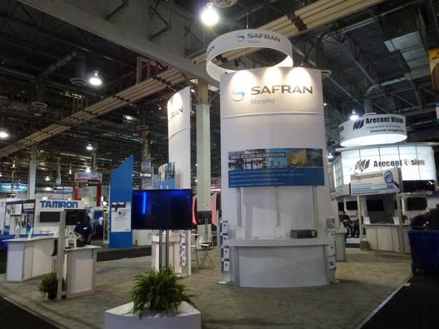 Safran Morpho booth, End of first day, ISC West 2012