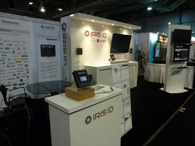 IrisID booth, end of first day, ISC West 2012
