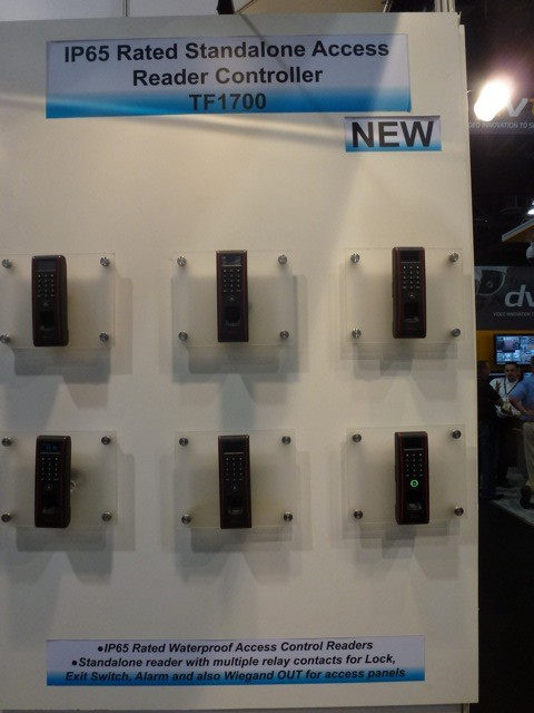 IP65 Rated Standalone Access Reader Controller TF1700 by ZK Technology, ISC West 2012