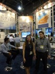 Evgenia Ostrovskaya and Mikhail Tislenko of Axxon, ISC West 2012