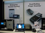 Access control and Dual/Rolling finger scanner by Virdi, ISC West 2012
