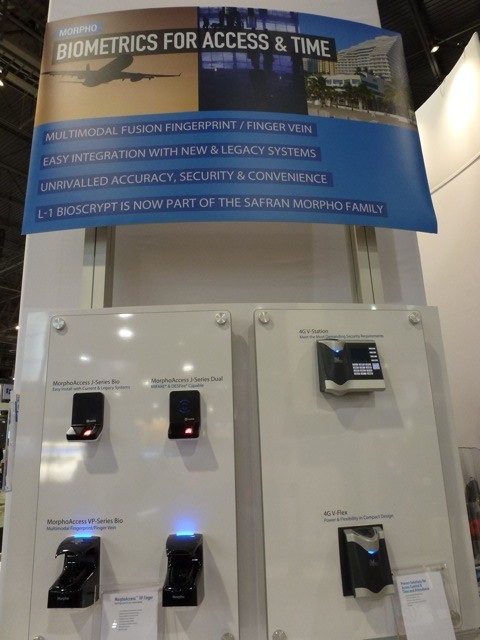 Morpho Access &Time readers, ISC West 2012