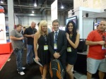 Trapped by a DVR / Video Surveillance booth in the passage from Morpho to NEC :-), ISC West 2012