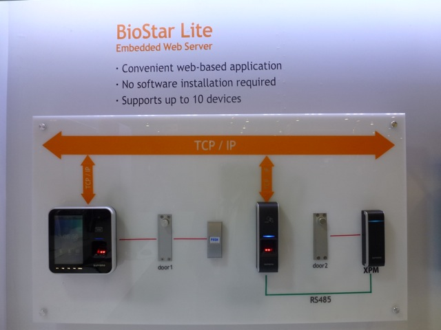 BioStar Lite Embedded Web server by Suprema. ISC West 2012