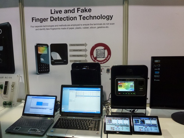 Live and fake finger technology by Virdi, ISC West 2012