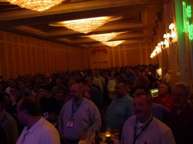 The crowd enjoying Floyd songs performed by Bosch's own The Magneatos, ISC West 2012